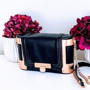 Aldo Black and Gold Crossbody Bag